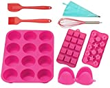 OHOMA Silicone Bakeware Set – 12-Pieces Gift Set, Great for Beginners and Home Bakers
