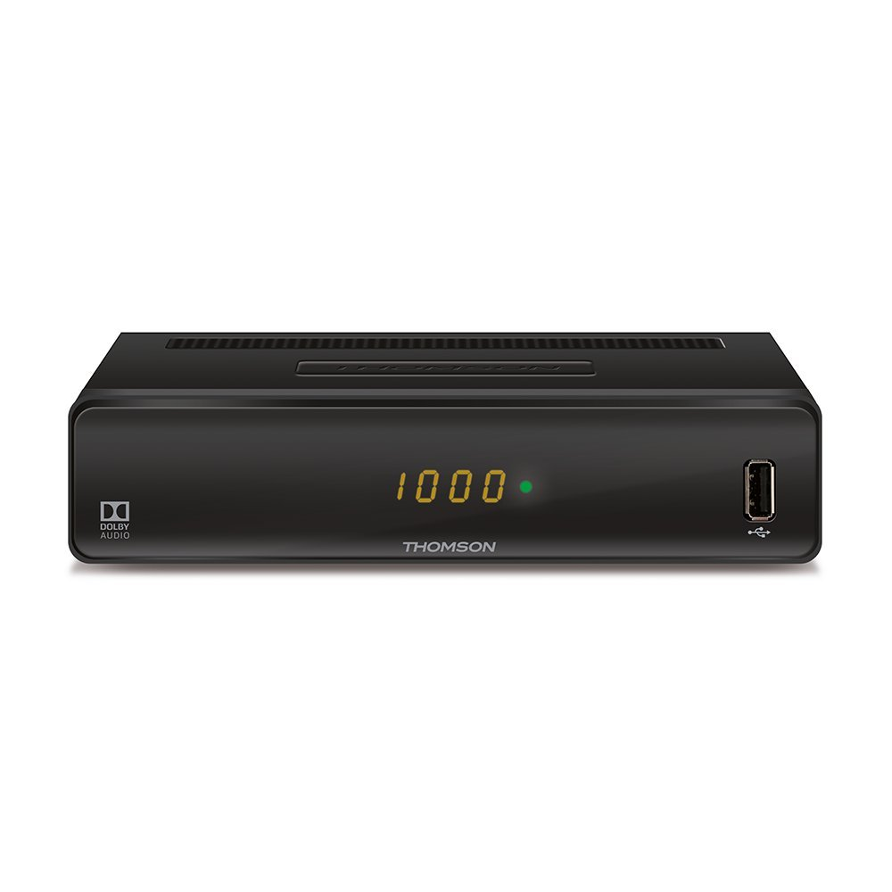 Thomson THC300 TV Set-Top Boxes Cable Negro Cable, DVB-C, PAL, 1080i,1080p,480i,480p,576i,576p,720p, 9:16, AVC,H.264,MPEG2,MPEG4 Reproductor//sintonizador