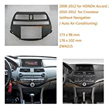 Autostereo Car Radio Mounting Audio Frame Fascia Adaptor for HONDA Accord 2008-2012; Crosstour 2010-2012 (without Navigation / Auto Air-Conditioning) Car Stereo Fascia in Dash CD Trim Installation Kit