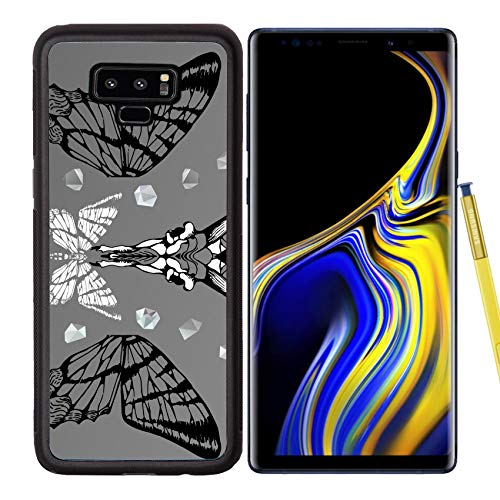Samsung Galaxy Note9 Case Aluminum Backplate Bumper Snap Case Image ID 27136382 Abstract Gothic Sacral Illustration with Polygon Crystal Design eleme
