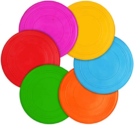 Forin Natural Silica Gel Material DogToys Flying Discs for Pet Training Interactive