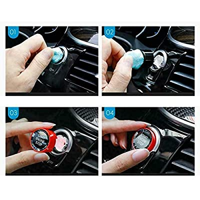 Xotic Tech Start Stop Engine Switch Cover Power Ignition Button Cap Trim for BMW 1 2 3 4 5 7 Series X1 X3 X5, Blue: Automotive