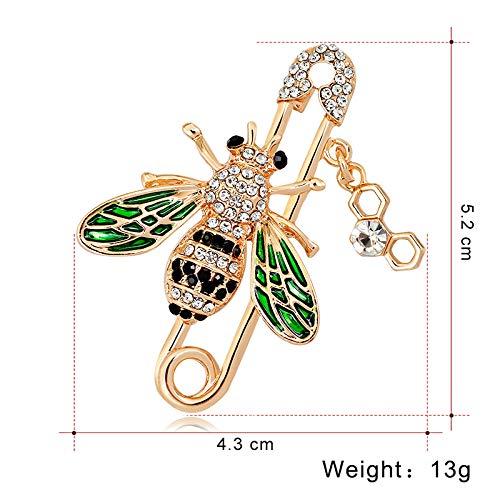 Da.Wa Personalized Little Bee Brooch Shawl Buckle Pin Clothing Accessories Fashion Jewelry Gift Boutonniere