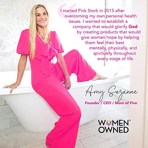 51p574kbBPL. AC - Pink Stork Nipple Cream: 100% Organic Breastfeeding Essentials With Jojoba Oil, Coconut Oil, Shea Butter, Lanolin Free, Heals Cracks + Pains, Women-Owned, 1 Oz