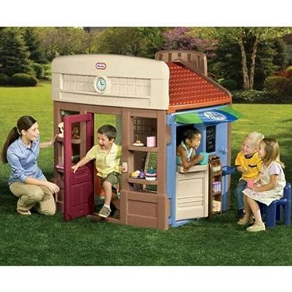 Cosy Little Tikes Home Garden Playhouse. Little Tikes Town Center Amazon com  Toys Games