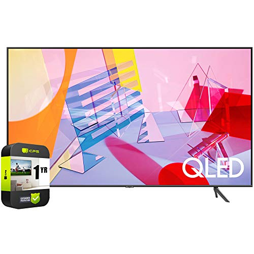 🥇 SAMSUNG QN43Q60TAFXZA 43 inch Class Q60T QLED 4K UHD HDR Smart TV 2020 Bundle with 1 Year Extended Protection Plan