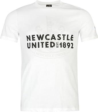 e2baed898bc3 Newcastle United Graphic T Shirt Mens - White  Amazon.co.uk  Clothing