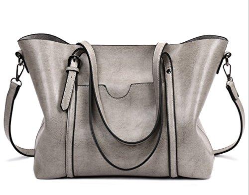 Crossbody Grigio Viaggio Multiple Bag Epoca Spalla Donne Tasche Shopping Casuale Impermeabile SPAddw