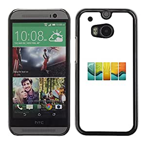 EJOY---Cubierta de la caja de protección la piel dura para el / HTC One M8 / --Onda Azulejos