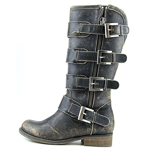Zipper Distressed Corral Black Straps Fashion Women's and Boots qHttP8Fw