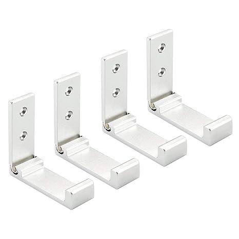 Amazon.com: Paquete de 4 ganchos plegables para colgar en la ...