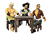 Pirates Sitting Playing Cards Set - Life Size Resin Statue