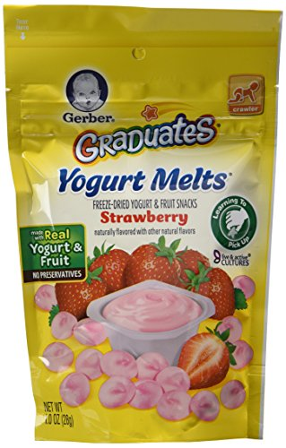 Gerber Graduates Yogurt Melts - Variety Pack of 4 (Banana Vanilla, Peach, Strawberry, Mixed Berries)