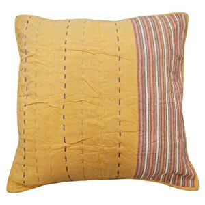 """Pillow Cover Orange Designer Cushion Cover 60 cm Solid Pattern Pillowcase Throw 24""""India Gift"""