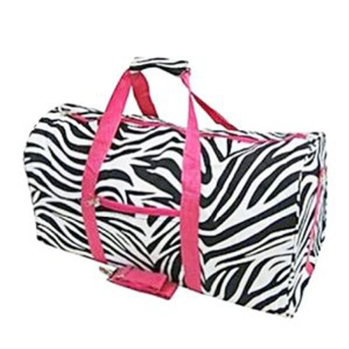 Zebra Carry On Duffle Bag - Dance Cheer Gym
