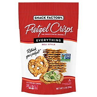 Snack Factory Pretzel Crisps, Everything, 7.2 Oz Bag