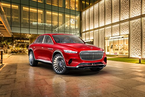 Mercedes Benz Vision Ultimate Luxury By Maybach Concept  2018  Car Print On 10 Mil Archival Satin Paper Red Front Side Static View 24 X36