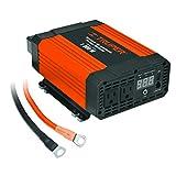 Truper INCO-1000, Accesorios para auto Inversores de corriente con puerto USB 1,200 W Convierte la corriente del vehículo de 12 V C.D. a 120 V C.