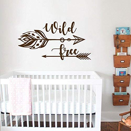Amazon.com: Wild and Free Wall Decal/Arrow Nursery Wall Decal. Quote ...