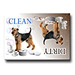 Airedale Terrier Clean Dirty Dishwasher Magnet 3