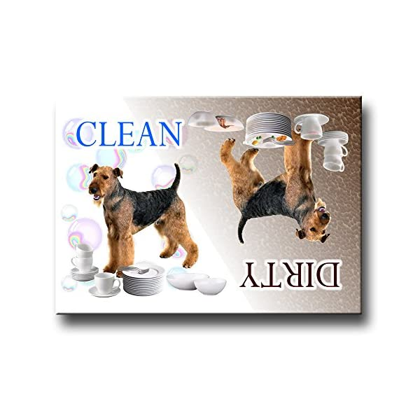 Airedale Terrier Clean Dirty Dishwasher Magnet 1