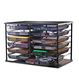 12-Compartment Organizer with Mesh Drawers, 23 4/5'' x 15 9/10'' x 15 2/5'', Black