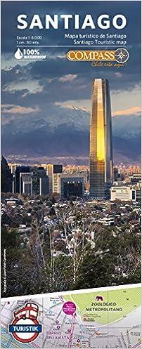 Santiago De Chile Mapa Turistico.Mapa Turistico De Santiago Juan Pablo Gardeweg Compass