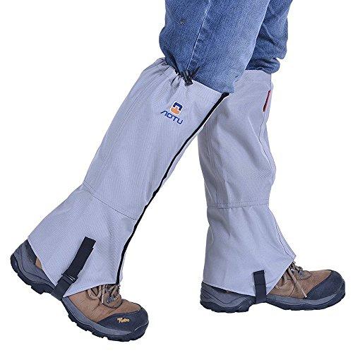 iking Camping Mountain Climbing Leg Gaiters Oxford Waterproof Dustproof Antiwater Leg Cover Breathable Anti-bite High Gaiters Leg Protection Guard Boot Guardian (1 Pair) (Gray) ()
