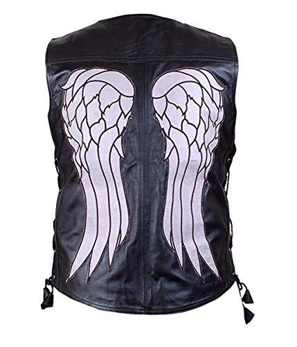 AHM-Services Men's The Walking Dead Daryl Dixon Norman Reedus Angel Wings Black Leather Vest (3XL)]()