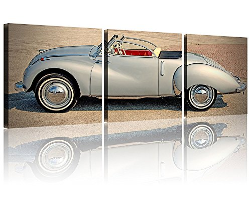 3 Panel Wall Art Old Vintage Car Pictures Print On Canvas Car Modern Giclee Stretched and Framed Artwork the Picture for Living Room Decoration Car Pictures Photo Prints on Canvas