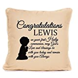 Holy Communion Gift For Boy - Personalised 1st Communion Gift - Cushion Pillow Cover - 12 inch x 12 inch