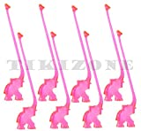Pack of Plastic Pink Elephant Stirrers - Party Animal Swizzles (100)