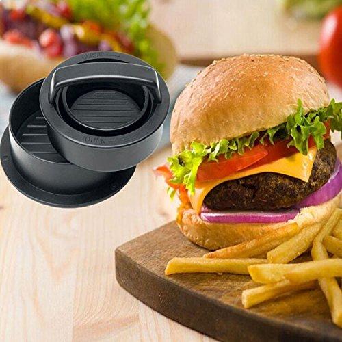 MILIER Burger Press, 4 en 1 Kit de moldes para Hamburguesas rellenas para Hamburguesas y Hamburguesas para Asar a la Parrilla