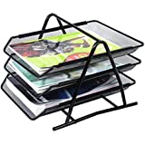 Wire Mesh Office A4 Document Letter Black Paper Storage Filing Trays Holder 3 Tiers GN ENTERPRISES