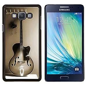 - Guitar Music - - Cubierta del caso de impacto con el patr??n Art Designs FOR Samsung Galaxy A7 Queen Pattern