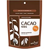 Cacao Power Nibs - 100% Organic Raw Cacao, 8 oz,(Navitas Natural) ( Multi-Pack)