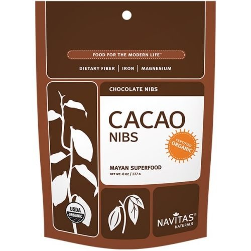 Cacao Power Nibs - 100% Organic Raw Cacao, 8 oz,(Navitas Natural) (Multi-Pack)