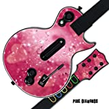 Mightyskins Protective Skin Decal Cover Sticker for GUITAR HERO 3 III PS3 Xbox 360 Les Paul - Pink Diamonds