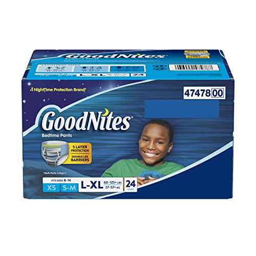 Goodnites Bedtime Bedwetting Underwear for Boys, 24 bedtime pants, Large/X-Large