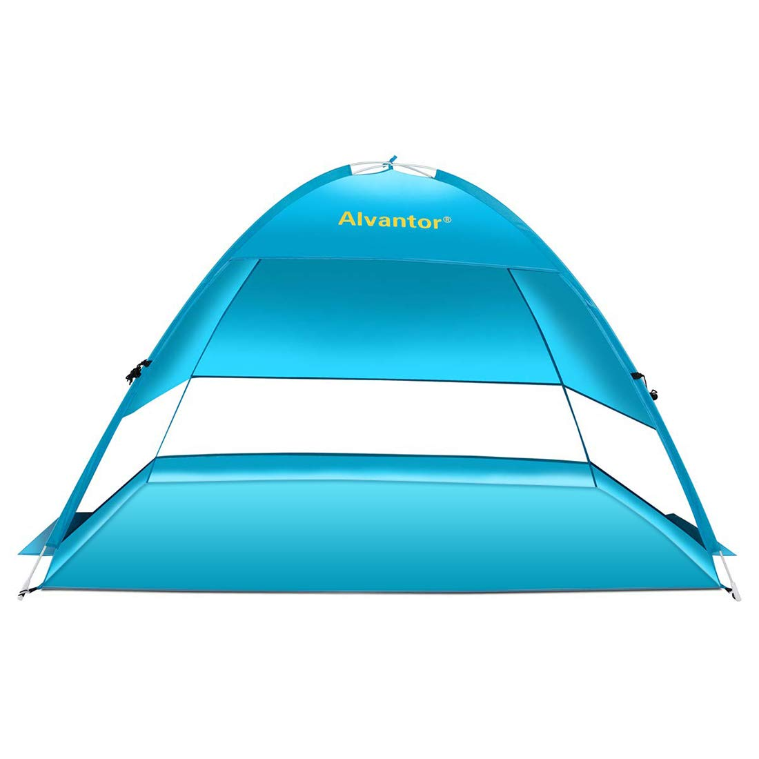Alvantor Beach Tent Coolhut Plus Beach Umbrella Outdoor Sun Shelter Cabana Automatic Instant Pop-Up UPF 50+ Sun Shade Portable Camping Fishing Hiking Canopy Easy Set Up Light Weight Windproof by Alvantor