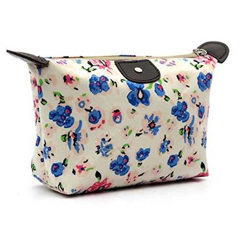 Cosmetic Bags, Toraway Women Travel Make Up Cosmetic Pouch Bag Clutch Handbag Casual Purse (Blue)