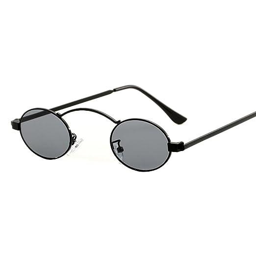 160b89e19ea COGIGI Women Fashion Unisex Round Frame Shades Sunglasses Integrated UV  Glasses at Amazon Men s Clothing store