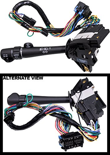 APDTY 88964580 Multi-Function Turn Signal Dimmer Hazard Wiper Cruise Combination Switch Lever Fits 2000-2005 Chevrolet Impala or Monte Carlo With Cruise Control Switch Mounted On Lever Chevrolet Monte Carlo Headlight Switch