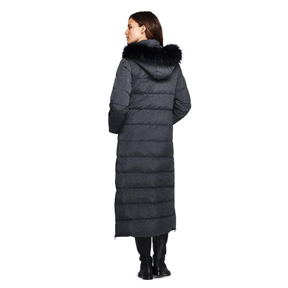 6fb74ccf0b6 Lands  End Women s Petite Winter Long Down Coat with Faux Fur Hood ...