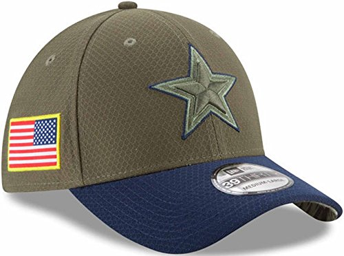 Dallas Cowboys 2017 Salute to Service Flex Fit Hat M L for sale Delivered  anywhere ed480eb00