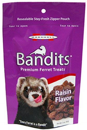 Marshall Bandits Ferret Treat Raisin 7.5lbs (40 x 3oz) by Marshall
