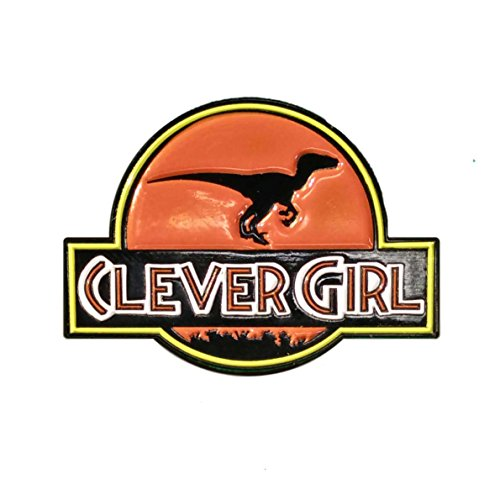 Clever Girl Raptor Ceramic Enamel Pin