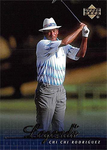 Chi Chi Rodriguez golf card (Golfer PGA, Hall of Famer) 2001 Upper Deck Legends #60 Chi Chi Rodriguez Signed