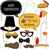 Give Thanks - Thanksgiving Party Photo Booth Props Kit - 20 Count
