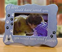 Pet Memorial Gifts - If Loved Could Have Saved You Keepsake Picture Frame and In Loving Memory Pet Ornament - Christmas Sympathy Gift